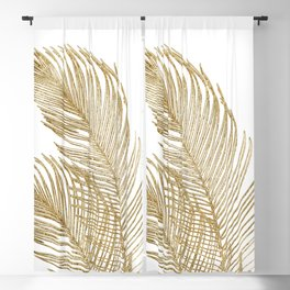 Palm Leaves Finesse Line Art with Gold Foil #2 #minimal #decor #art #society6 Blackout Curtain