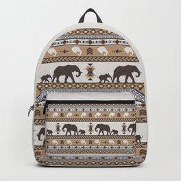 Boho animals | Elephants tan Backpack