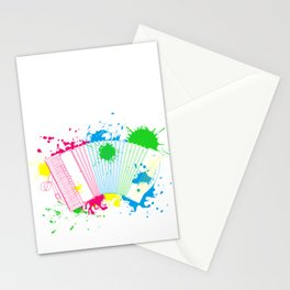 Air Accordion Musician Gift Idea Stationery Cards