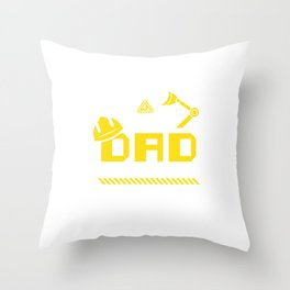 Dad Birthday Crew Construction Worker Theme Party Throw Pillow