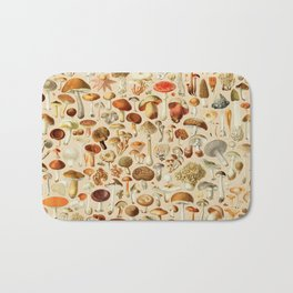 Vintage Mushroom Designs Collection Bath Mat