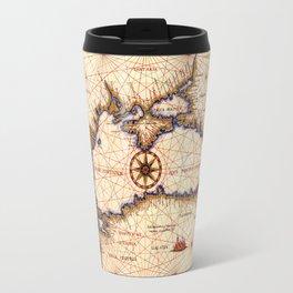 Black sea medieval map Travel Mug