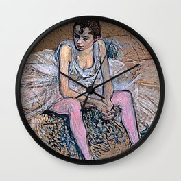 Dancer in Pink Tights Wall Clock