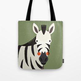 Zebra, Animal Portrait Tote Bag