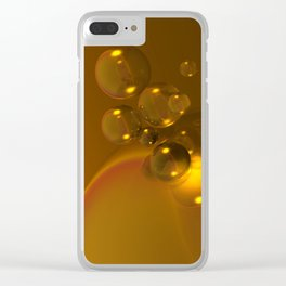 Quantum Gold Clear iPhone Case