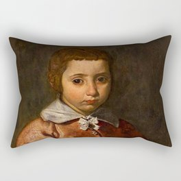 """Diego Velázquez """"Portrait of a Girl in Prayer"""" or """"The Virgin Mary as a Child"""" Rectangular Pillow"""