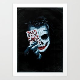 Dead Famous #2 Heath Ledger Art Print