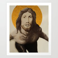 jesus Art Prints featuring Jesus by Ethan Hellexon