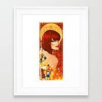 klimt Framed Art Prints featuring KLIMT GIRL by Lorena Carvalho