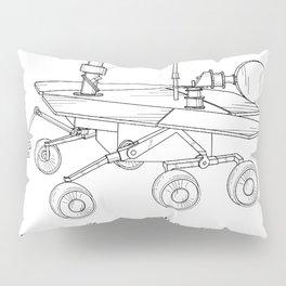 Nasa Mars Rover Patent - Mars Exploration Rover Art - Black And White Pillow Sham