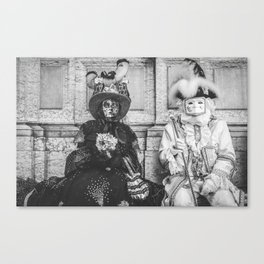 Couple of carnival masks in Venice Canvas Print