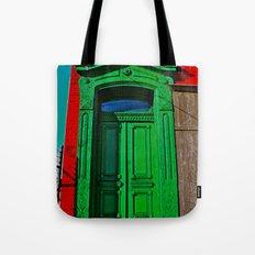 The Old Green Door  Tote Bag
