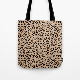 Animal Print, Spotted Leopard - Brown Black Tote Bag