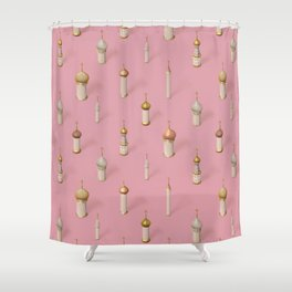 Dome Pink Shower Curtain