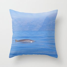 Beaked whale in the mist Throw Pillow