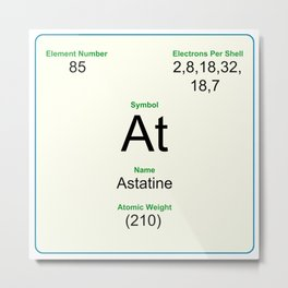 85 Astatine Metal Print