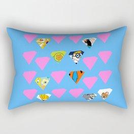 Vintage Cartoons Rectangular Pillow