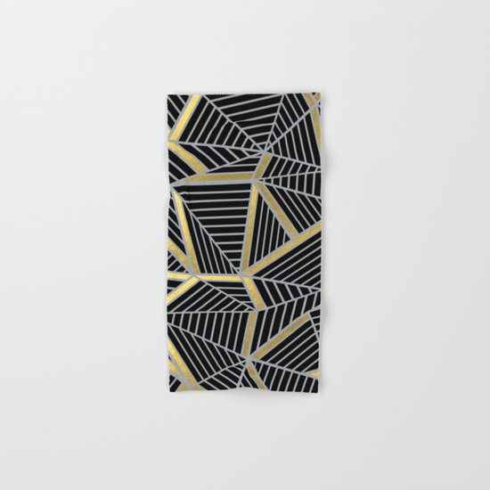 Ab 2 Silver and Gold Hand & Bath Towel