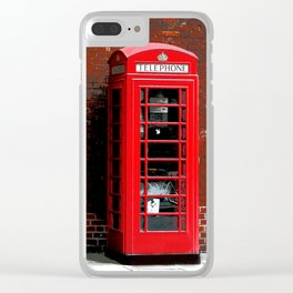 Red Phone Box- London England UK Clear iPhone Case