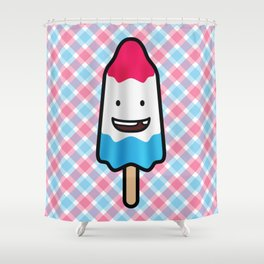 Happy Rocket Popsicle Shower Curtain