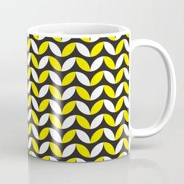 Geometric Pattern 255 (yellow black white curves) Coffee Mug