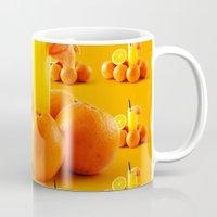 orange pattern Mugs featuring Orange Pattern by Azeez Olayinka Gloriousclick