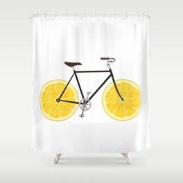 Lemon Bike Shower Curtain