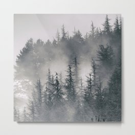"""""""Lost"""". Into the foggy mountains Metal Print"""