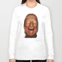 robin williams Long Sleeve T-shirts featuring Robin Williams Abstracto by Tazmatic