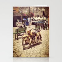 motorcycle Stationery Cards featuring Motorcycle by Sumii Haleem