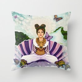 Mother of Earth Throw Pillow
