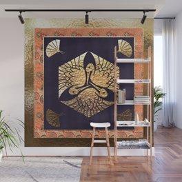 Japanese Swan Traditional Motif Wall Mural