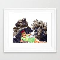 laputa Framed Art Prints featuring Castles by PeaberryRose