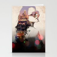 lindsay lohan Stationery Cards featuring LA - LOHAN by Tiaguh