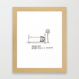 Goodnight To-Do List  Framed Art Print