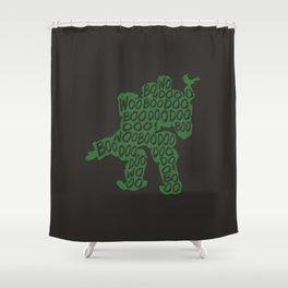 Bastion Typography illustration Shower Curtain