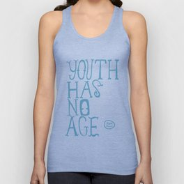 Youth Has No Age (Blue) Unisex Tank Top