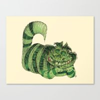 cheshire Canvas Prints featuring Cheshire by Albert F. Montoya