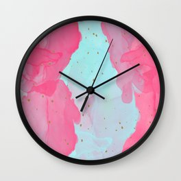 Alcohol Ink Wall Clock