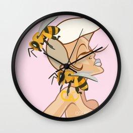 Blonde Buzzed Wall Clock