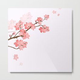 Blooming cherry tree Metal Print