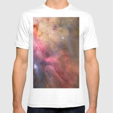 Orion Nebulae White Mens Fitted Tee SMALL
