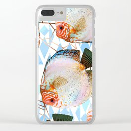 Discus fish with crystal #society6 Clear iPhone Case