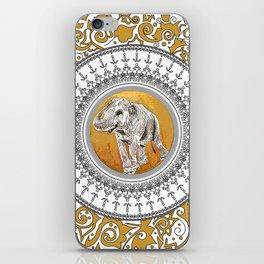 golden elephant iPhone Skin