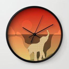 Underwater Elephant Scene Design Wall Clock