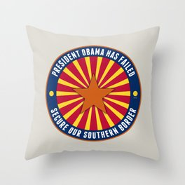Secure Our Southern Border Throw Pillow