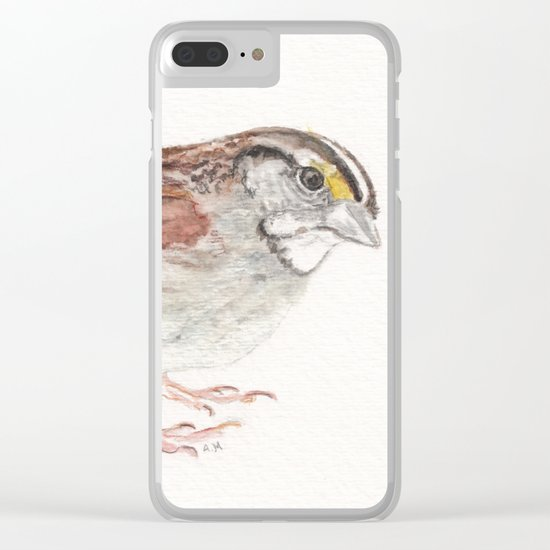 White-throated Sparrow Clear iPhone Case