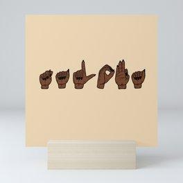 UrbanNesian Talofa Sign Language Mini Art Print