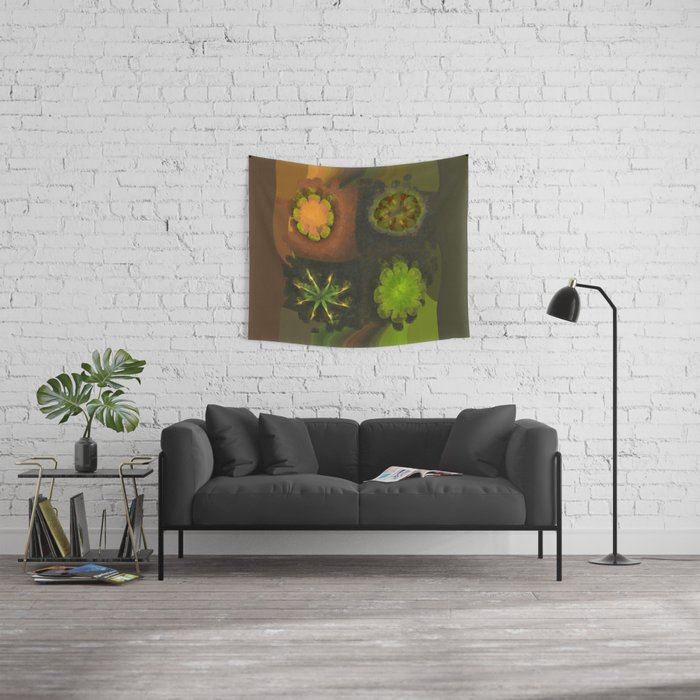 Squirm Bared Flowers  ID:16165-120806-85390 Wall Tapestry