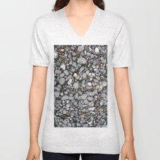 pebbles on the beach Unisex V-Neck